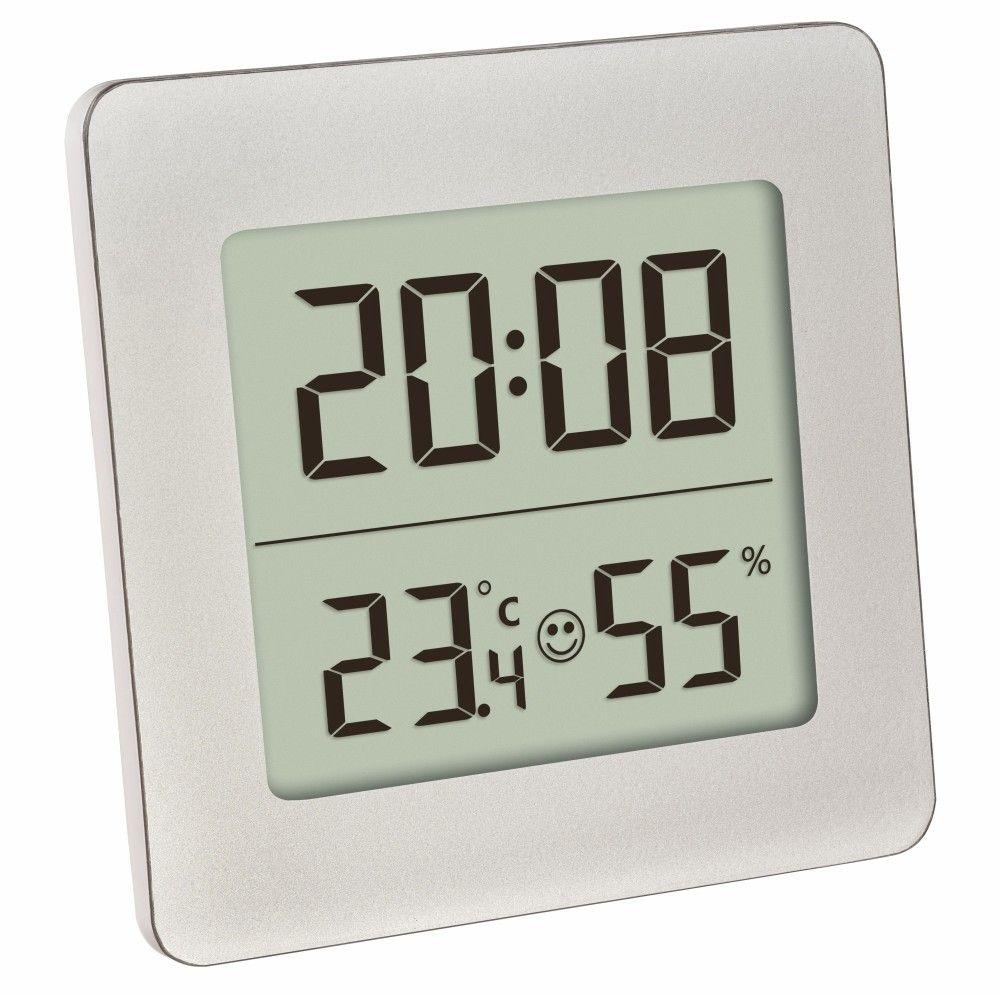 Digitální teploměr s vlhkoměrem a hodinami TFA 30.5038.54, bílý